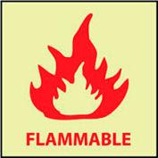 Glow Sign Vinyl - Flammable