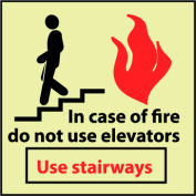 Glow Sign Rigid Plastic - Do Not Use Elevators