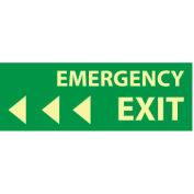 Glow Sign Vinyl - Emergency Exit(Left Arrow)