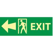 Glow Sign Vinyl - Exit(w/ Door And Left Arrow)