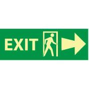Glow Sign Vinyl - Exit(w/ Door And Right Arrow)