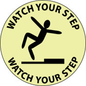Glow Floor Sign - Watch Your Step