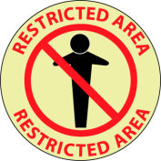 Glow Floor Sign - Restricted Area