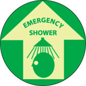 Glow Floor Sign - Emergency Shower