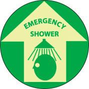Glow Floor Sign - Emergency Shower