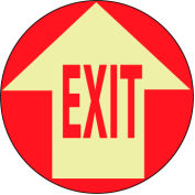 Glow Floor Sign - Exit w/ Arrow