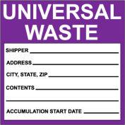 Hazardous Waste Paper Labels - Universal Waste