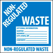 Hazardous Waste Vinyl Labels - Non-Regulated Waste