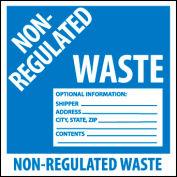 Hazardous Waste Vinyl Labels - Non-Regulated Waste