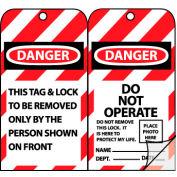 Jumbo Self-Laminating Lockout Tags - Danger Do Not Operate