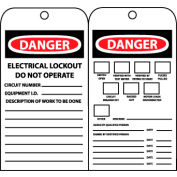 Jumbo Accident Prevention Tags - Electrical Lockout Do Not Operate