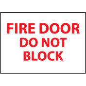 Fire Safety Sign - Fire Door Do Not Block - Vinyl