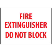 Fire Safety Sign - Fire Extinguisher Do Not Block - Vinyl