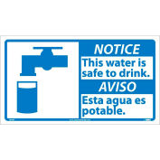 Bilingual Vinyl Sign - Notice This Water Is Safe To Drink