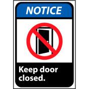 Notice Sign 14x10 Rigid Plastic - Keep Door Closed