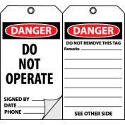 Self-Laminating Lockout Tags - Do Not Operate