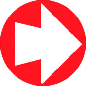 "Fire Safety Sign - 4"" Diameter Arrow"