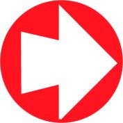 "Fire Safety Sign - 4"" Diameter Arrow"