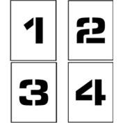 """Individual Character Stencil 4"""" - Number Set 0-9"""