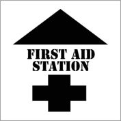 Plant Marking Stencil 20x20 - First Aid Station