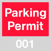 Parking Permit - Red Windshield 001 - 100