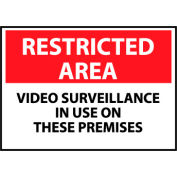 Restricted Area Plastic - Video Surveillance In Use On These Premises