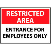 Restricted Area Aluminum - Entrance For Employees Only