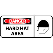 Pictorial OSHA Sign - Vinyl - Hard Hat Area