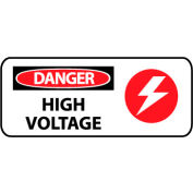 Pictorial OSHA Sign - Vinyl - Danger High Voltage
