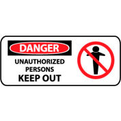 Pictorial OSHA Sign - Vinyl - Danger Unauthorized Persons Keep Out