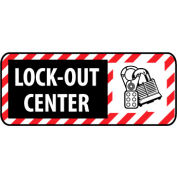 Pictorial OSHA Sign - Plastic - Lock Out Center