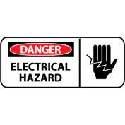 Pictorial OSHA Sign - Plastic - Danger Electrical Hazard