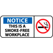 Pictorial OSHA Sign - Vinyl - Notice This Is A Smoke-Free Workplace
