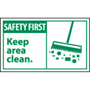 Graphic Machine Labels - Safety First Keep Area Clean