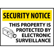 Security Notice Plastic - This Property Is Protected By Electronic Surveillance