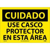 Spanish Vinyl Sign - Cuidado Use Casco Protector En Esta Area
