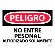 Spanish Vinyl Sign - Peligro No Entre Personal Autorizado Solamente