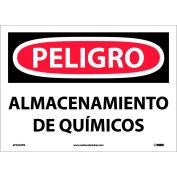 Spanish Vinyl Sign - Peligro Almacenamiento De Químicos