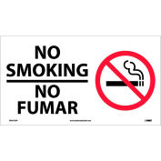 Bilingual Vinyl Sign - No Smoking