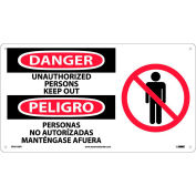 Bilingual Plastic Sign - Danger Unauthorized Persons Keep Out