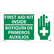 Bilingual Vinyl Sign - First Aid Kit Inside