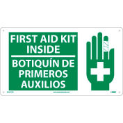 Bilingual Plastic Sign - First Aid Kit Inside
