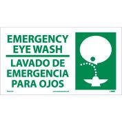 Bilingual Vinyl Sign - Emergency Eye Wash