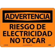 Spanish Plastic Sign - Advertencia Riesgo De Electricidad No Tocar