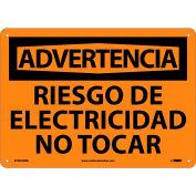 Spanish Plastic Sign - Advertencia Riesgo De Electricidad No Tocar