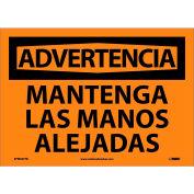 Spanish Vinyl Sign - Advertencia Mantenga Las Manos Alejadas