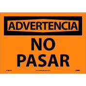 Spanish Vinyl Sign - Advertencia No Pasar