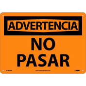 Spanish Plastic Sign - Advertencia No Pasar