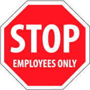 Security Stop Sign - Stop Employees Only