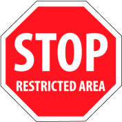 Security Stop Sign - Stop Restricted Area